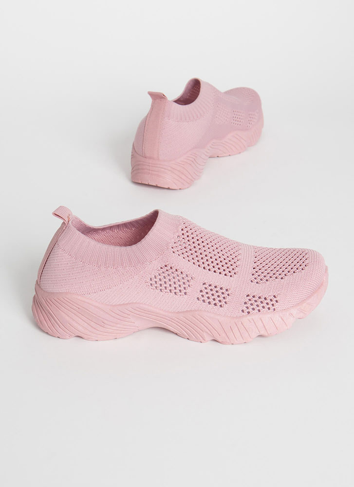 Perfect Form Slip-On Knit Sneakers MAUVE