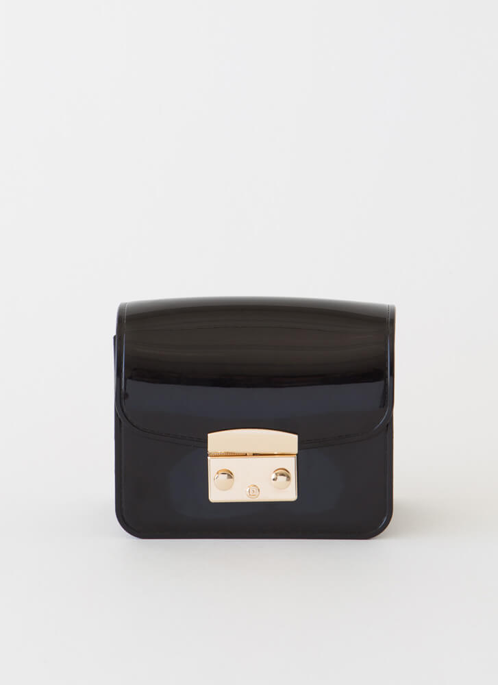 Small Packages Mini Jelly Purse BLACK