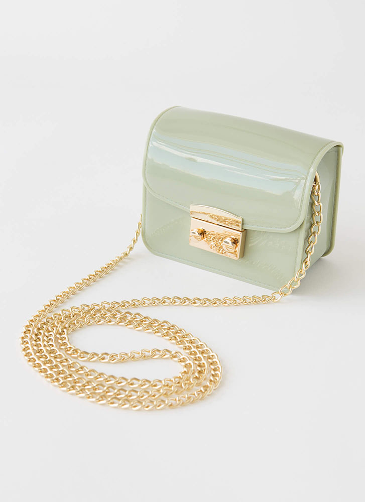 Small Packages Mini Jelly Purse MINT