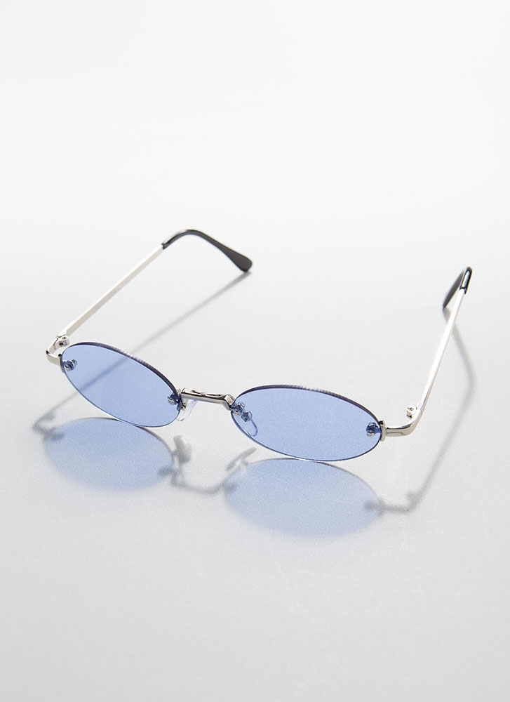 All Oval The Place Frameless Sunglasses BLUE