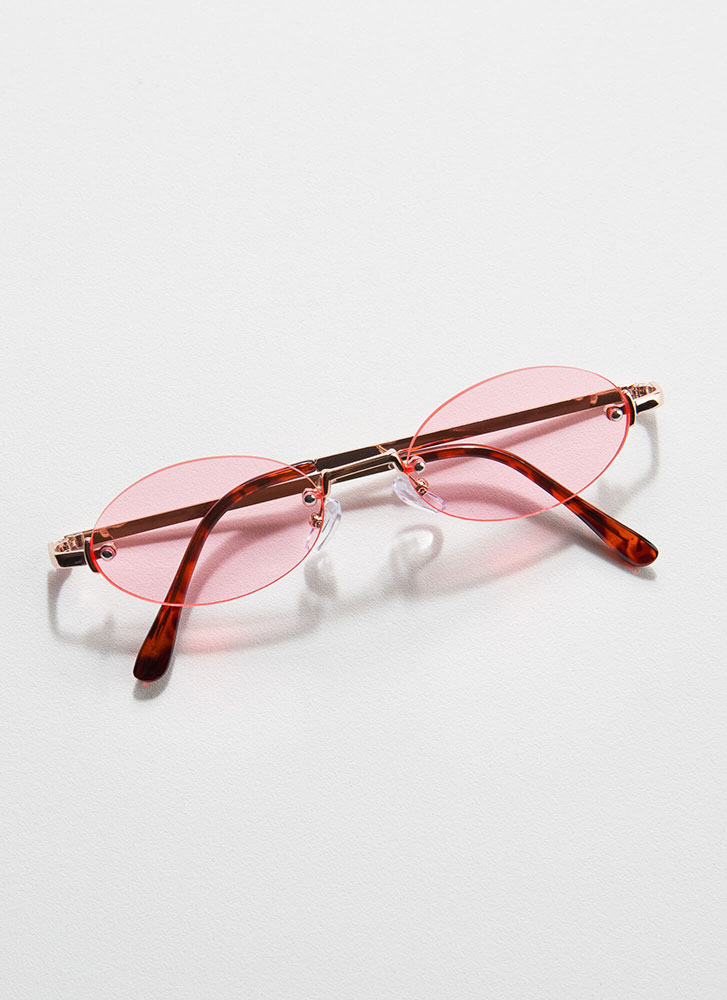 All Oval The Place Frameless Sunglasses PINK