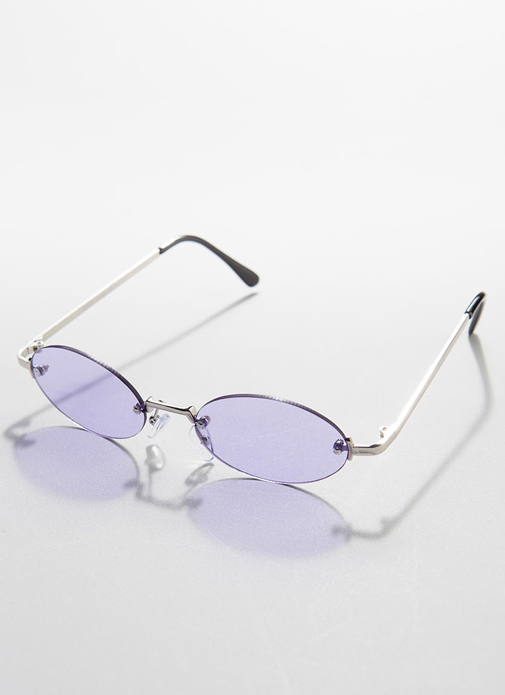 All Oval The Place Frameless Sunglasses PURPLE