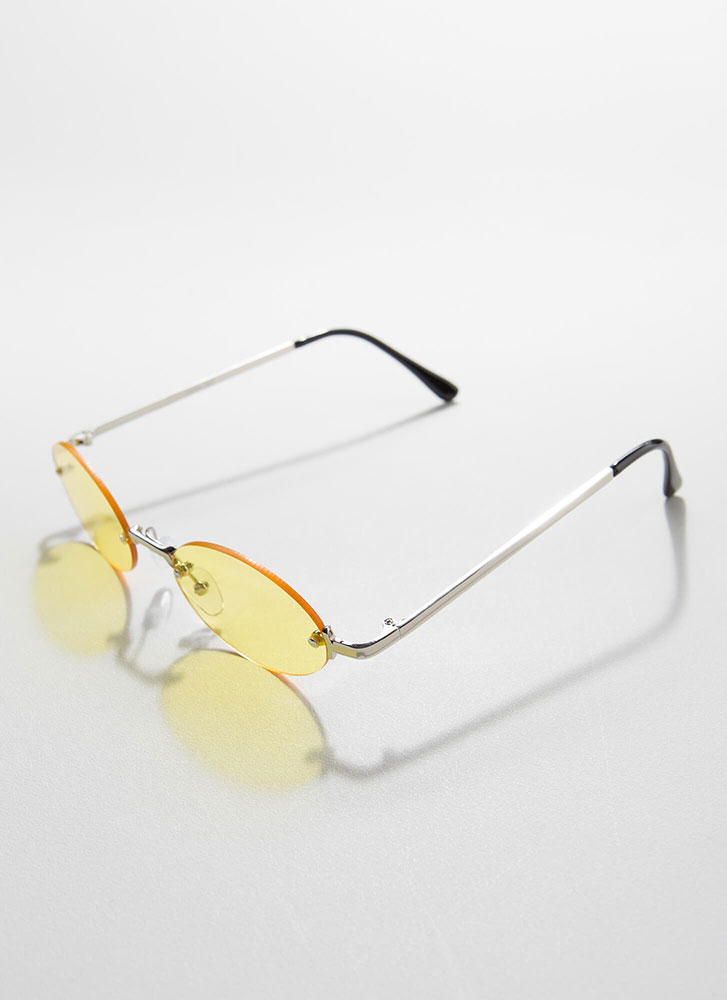 All Oval The Place Frameless Sunglasses YELLOW