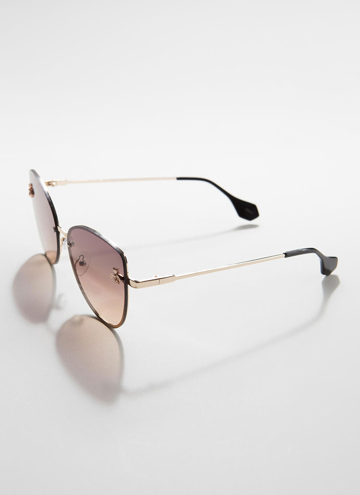 Bee Yourself Frameless Sunglasses BROWN