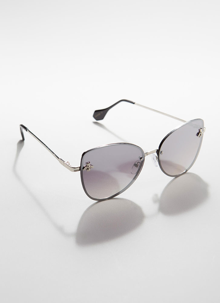 Bee Yourself Frameless Sunglasses SILVER