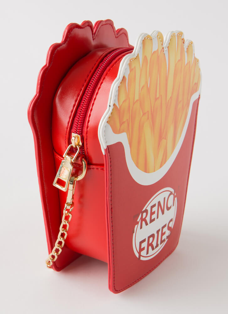 Fries Before Guys Novelty Clutch RED