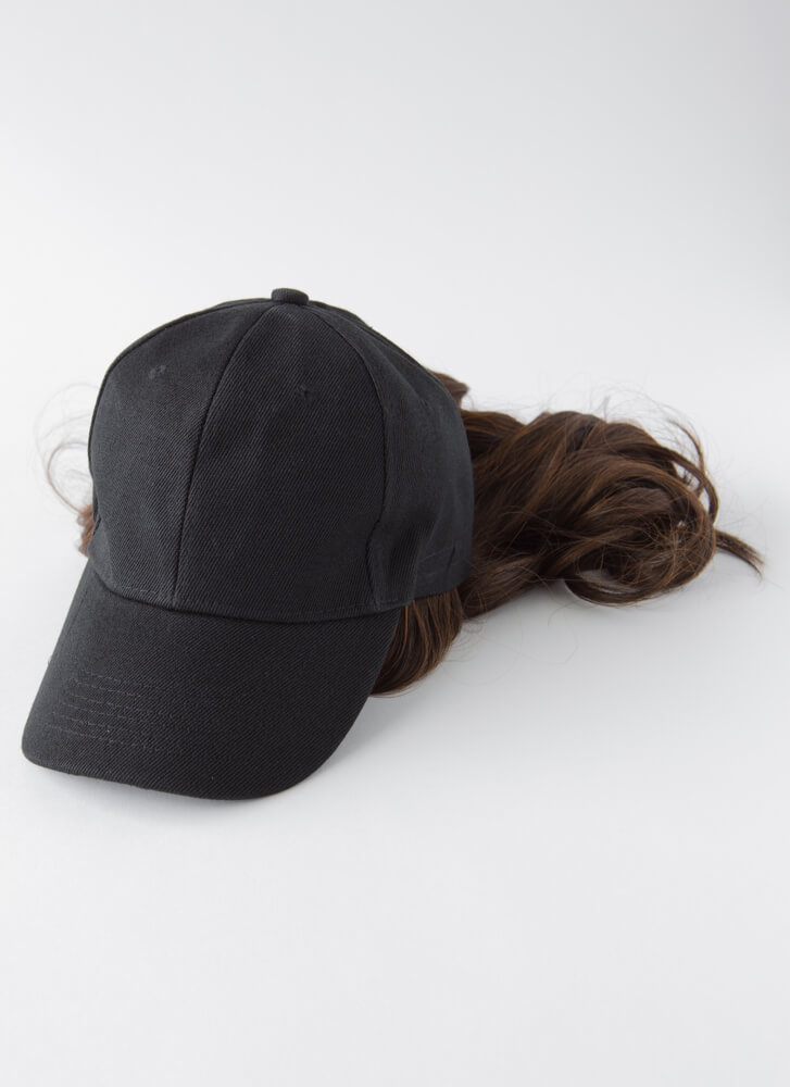 Wigging Out Faux Hair Cap BROWN