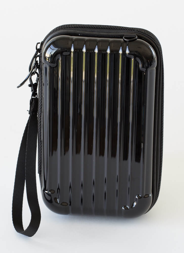 My Suitcase Is Packed Box Clutch BLACK