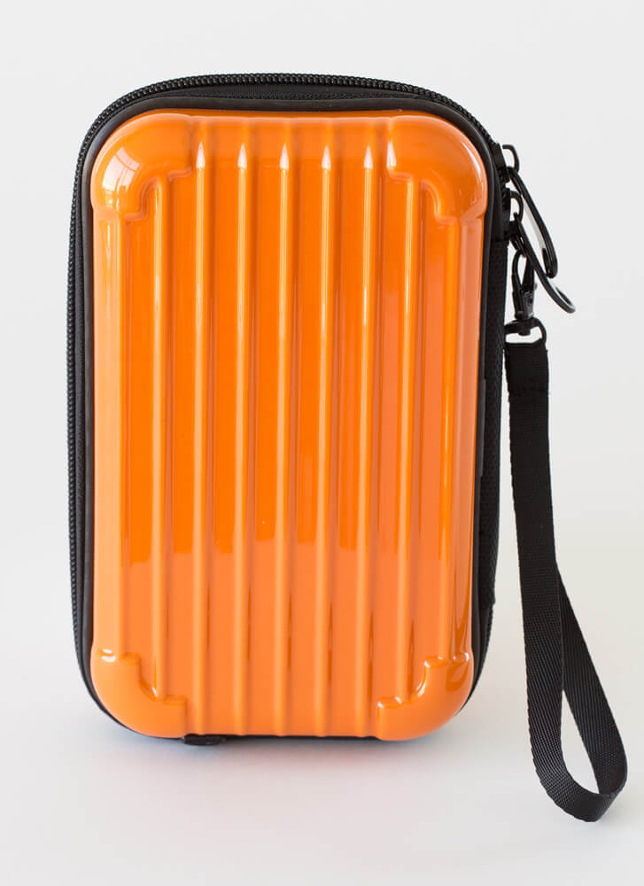 My Suitcase Is Packed Box Clutch ORANGE