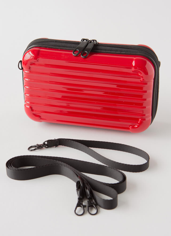 My Suitcase Is Packed Box Clutch RED