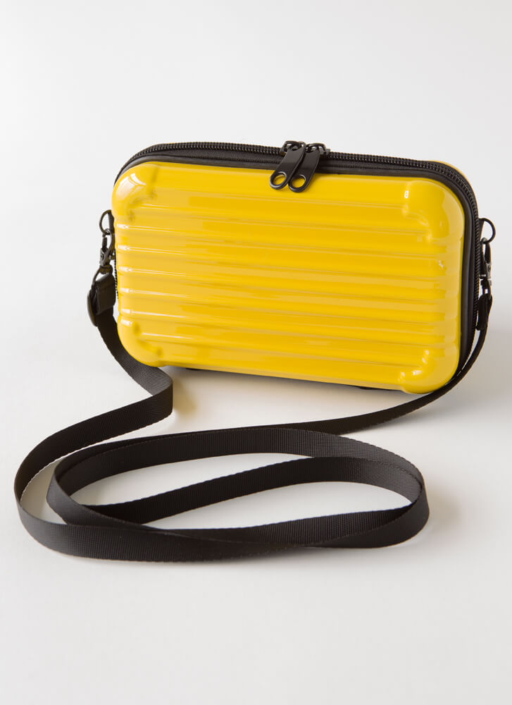 My Suitcase Is Packed Box Clutch YELLOW