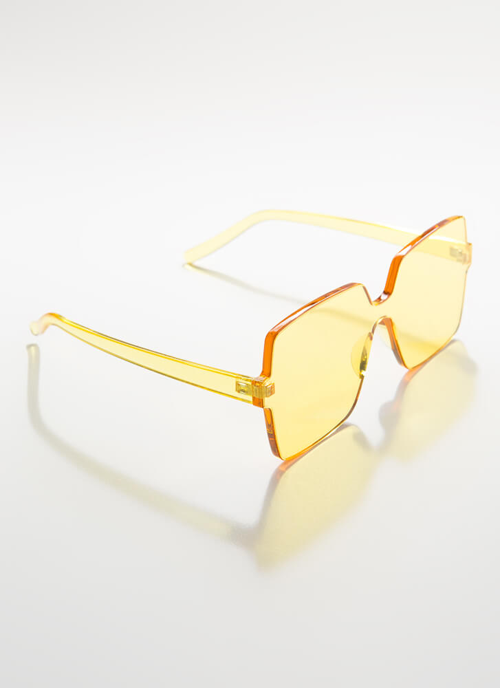Fun And Frameless Square Sunglasses YELLOW