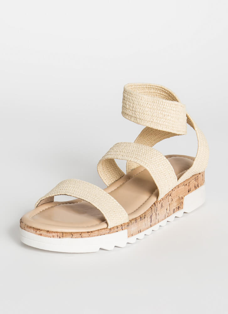You're Gonna Be Band Raffia Sandals RAFFIA