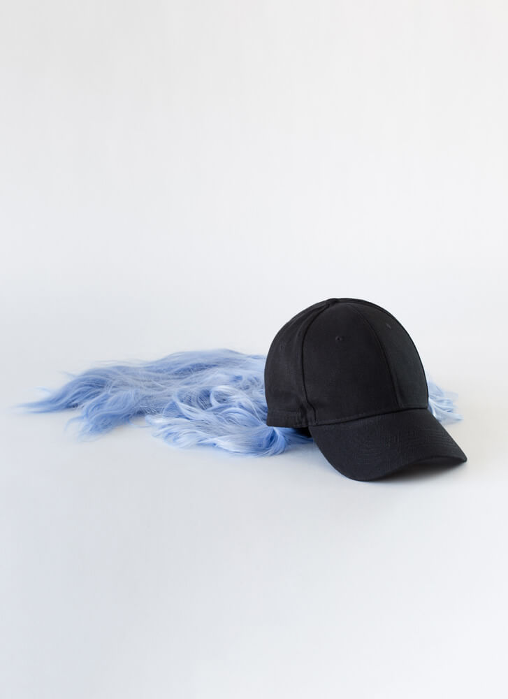 Wig Snatched Faux Hair Cap BLUE