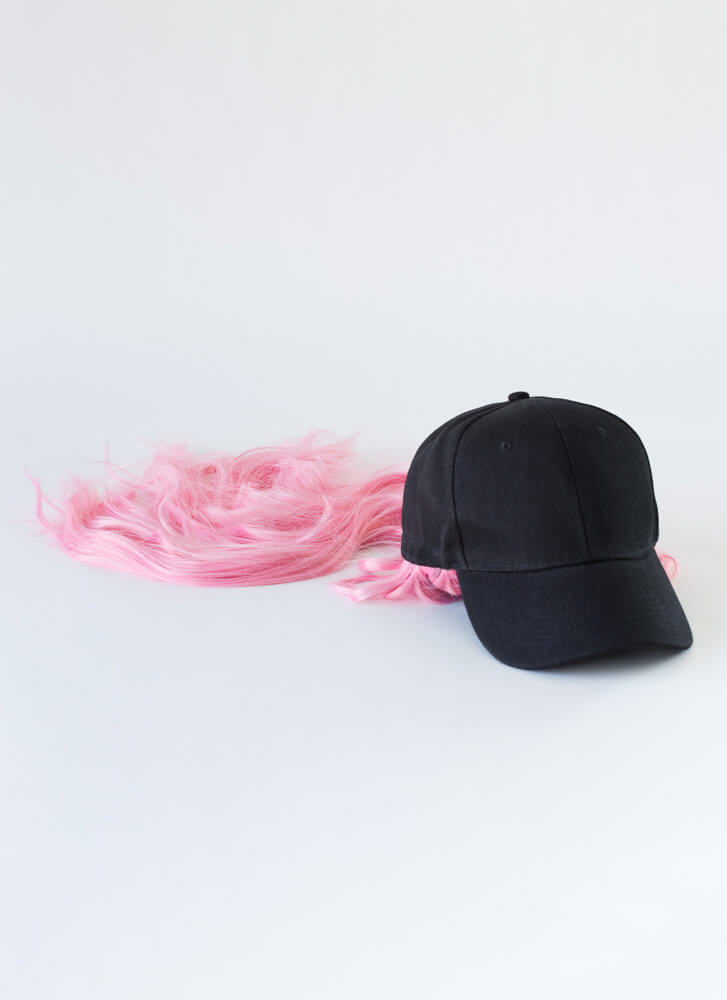 Wig Snatched Faux Hair Cap PINK