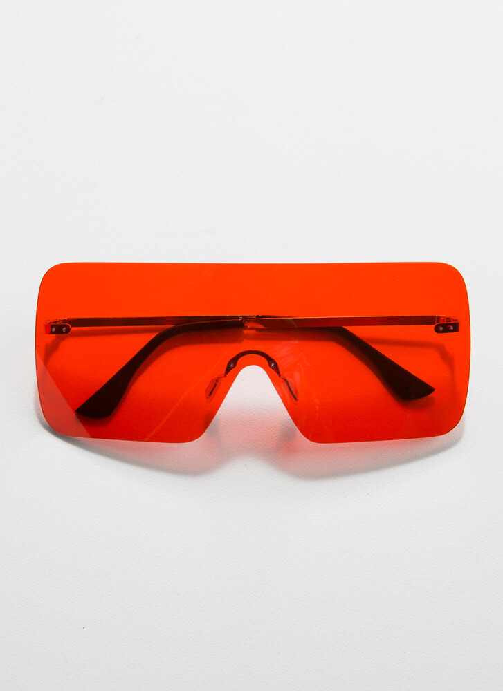 The Future Is Now Frameless Sunglasses RED