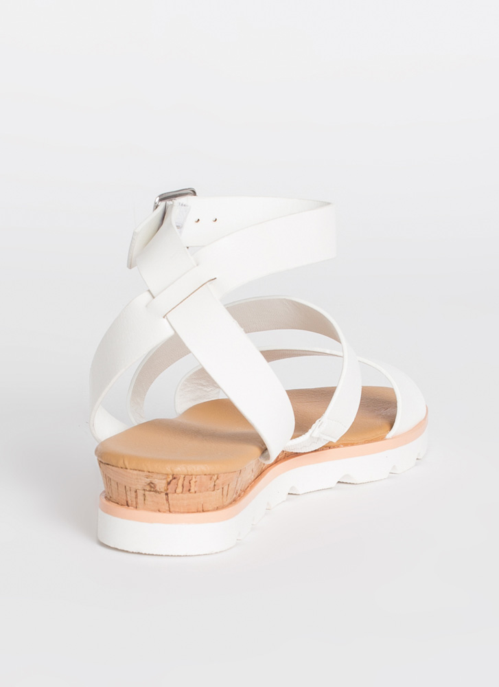 Beach House Ankle Strap Sandals WHITE