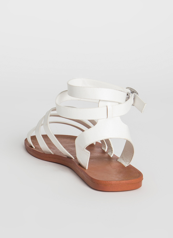 Three For Three Ankle Strap Sandals WHITE