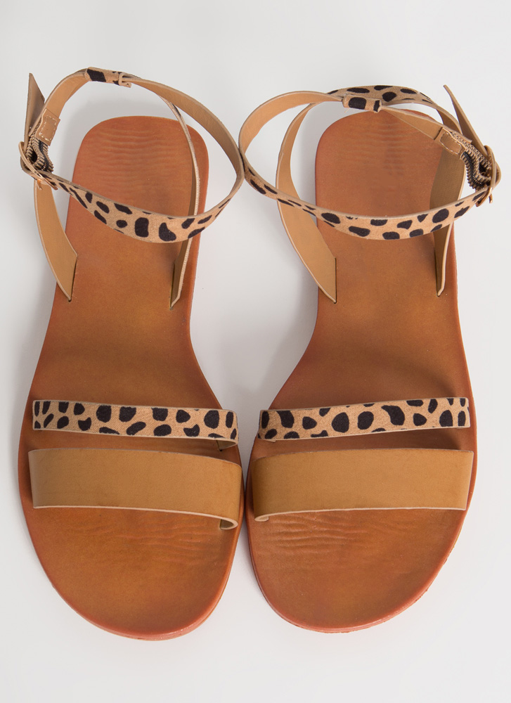 Spotted Out And About Strappy Sandals TAN