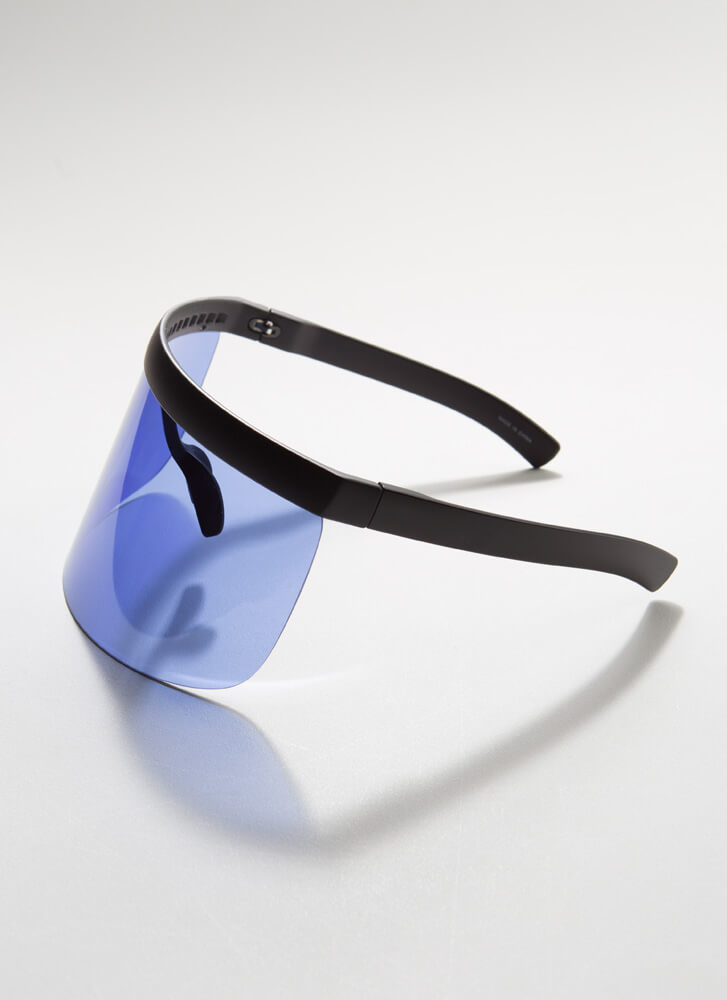 Keep Your Distance Visor Sunglasses BLUE