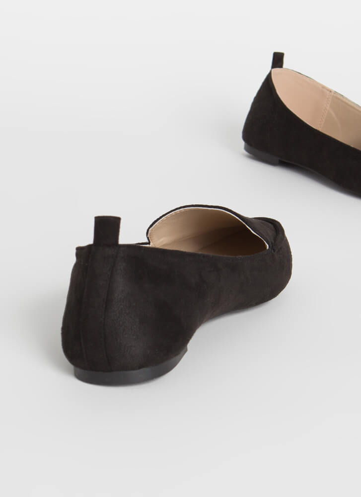 Chic In The City Pointy Loafer Flats BLACK