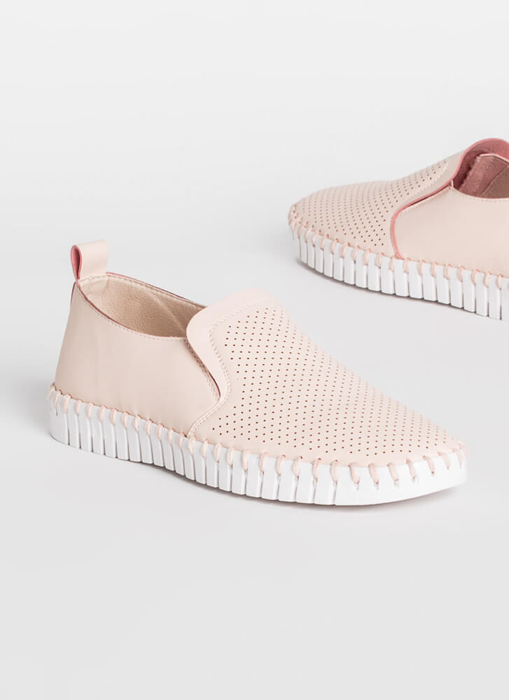 Bricklayer Faux Leather Slip-On Sneakers BLUSH