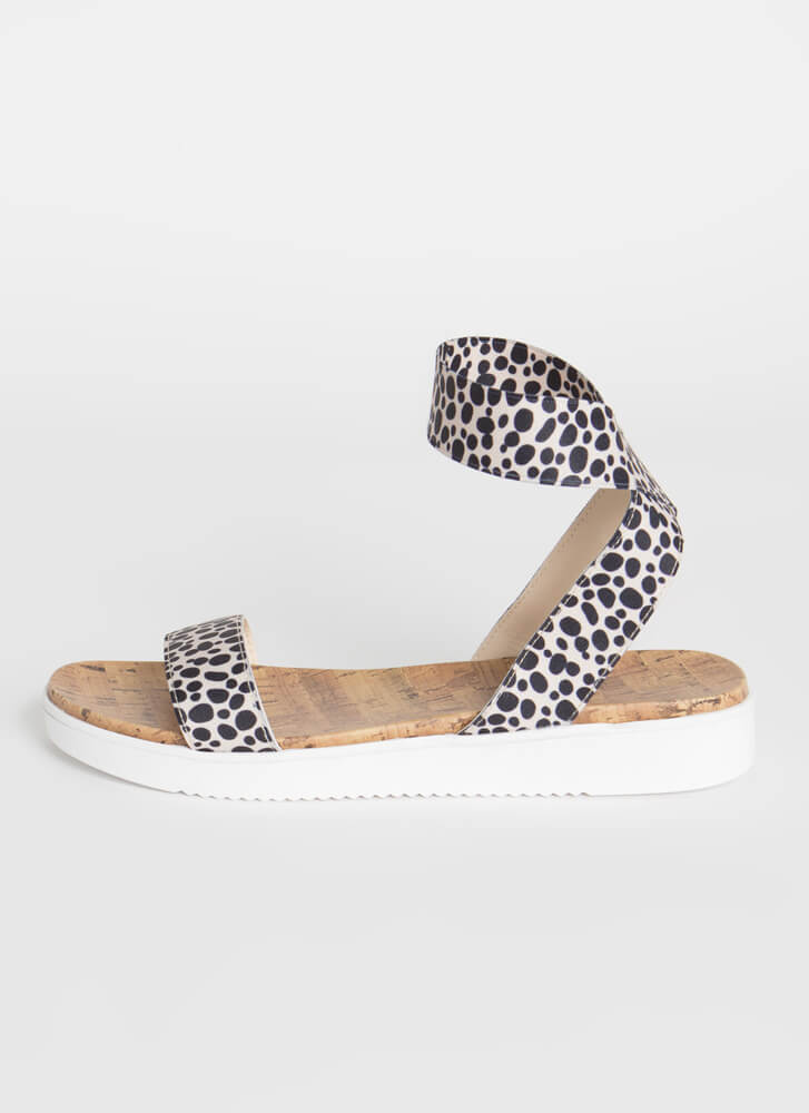 Banding Together Strappy Cork Sandals LEOPARD