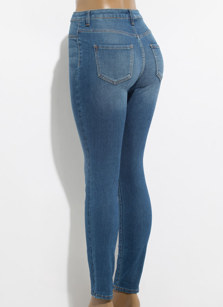 What You Want High-Waisted Skinny Jeans MEDBLUE