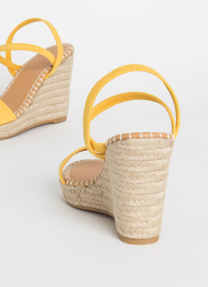 Vacation Vibes Espadrille Wedges AMBER