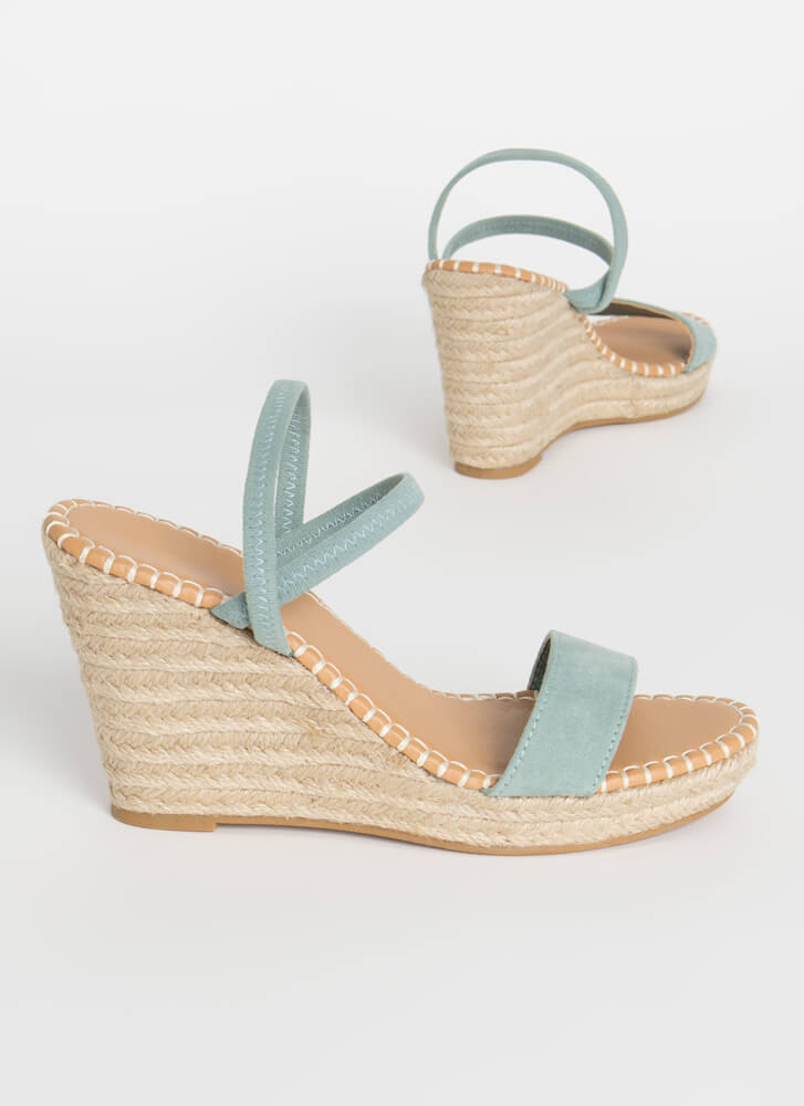 Vacation Vibes Espadrille Wedges SAGE