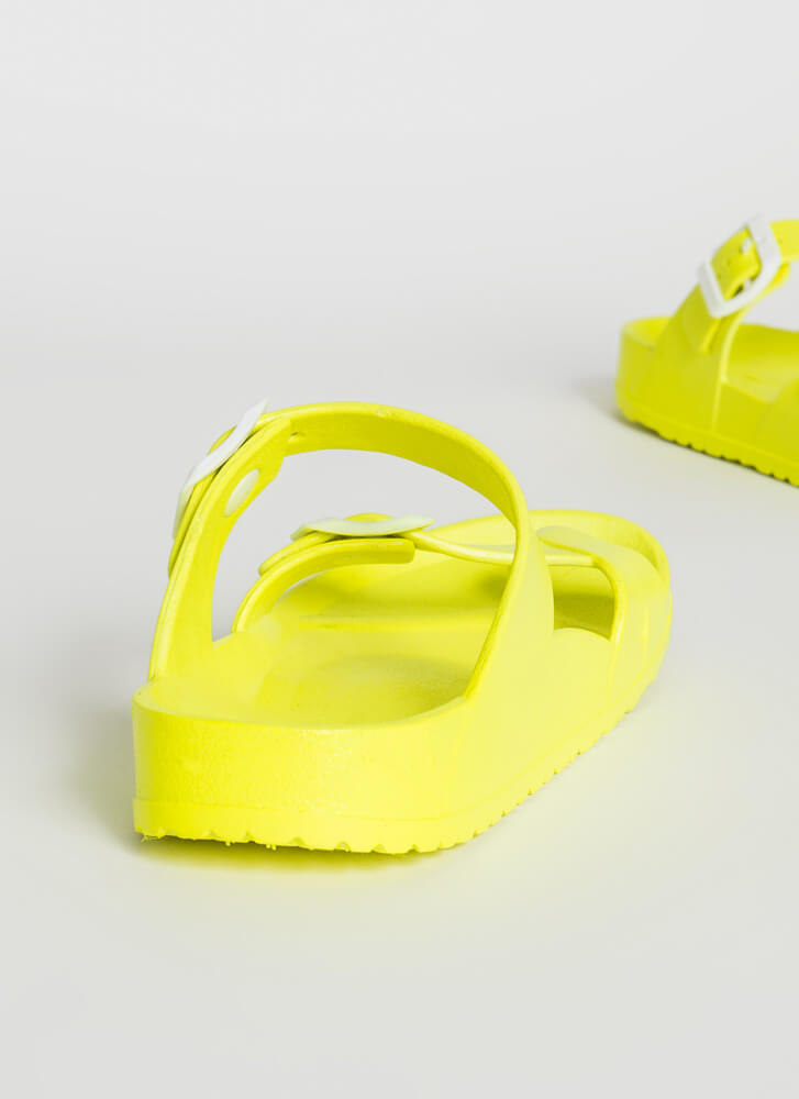 Best Of Both Worlds Thong Slide Sandals NEONYELLOW
