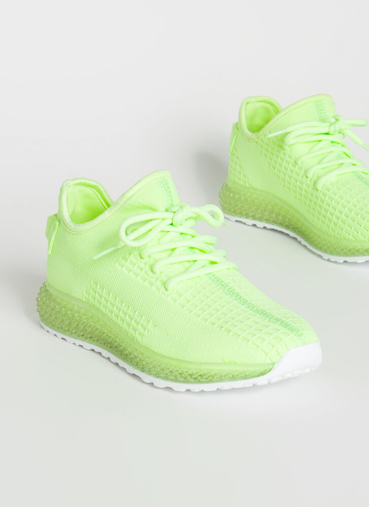 In Knit For The Long Run Sneakers NEONGREEN