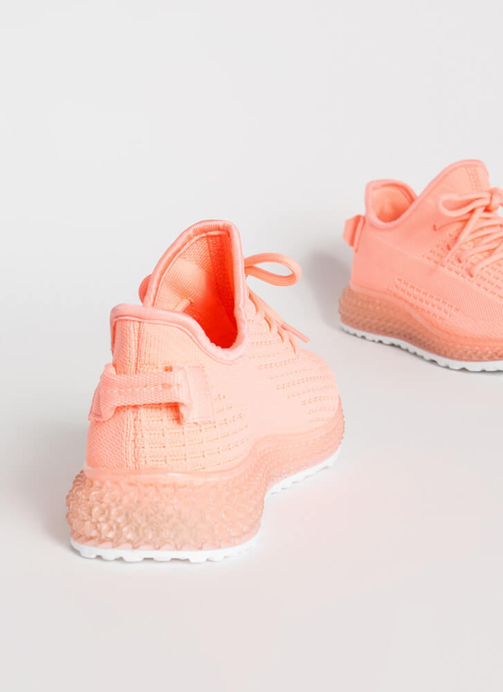In Knit For The Long Run Sneakers NEONPINK