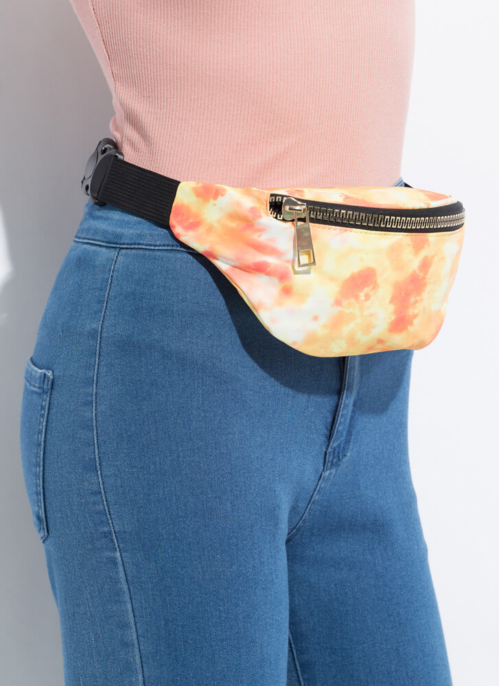 Going Places Tie-Dye Fanny Pack YELLOW