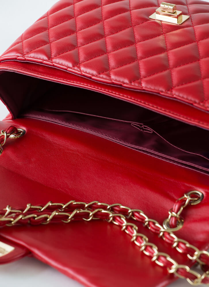 Bigger Is Better Quilted Handbag RED