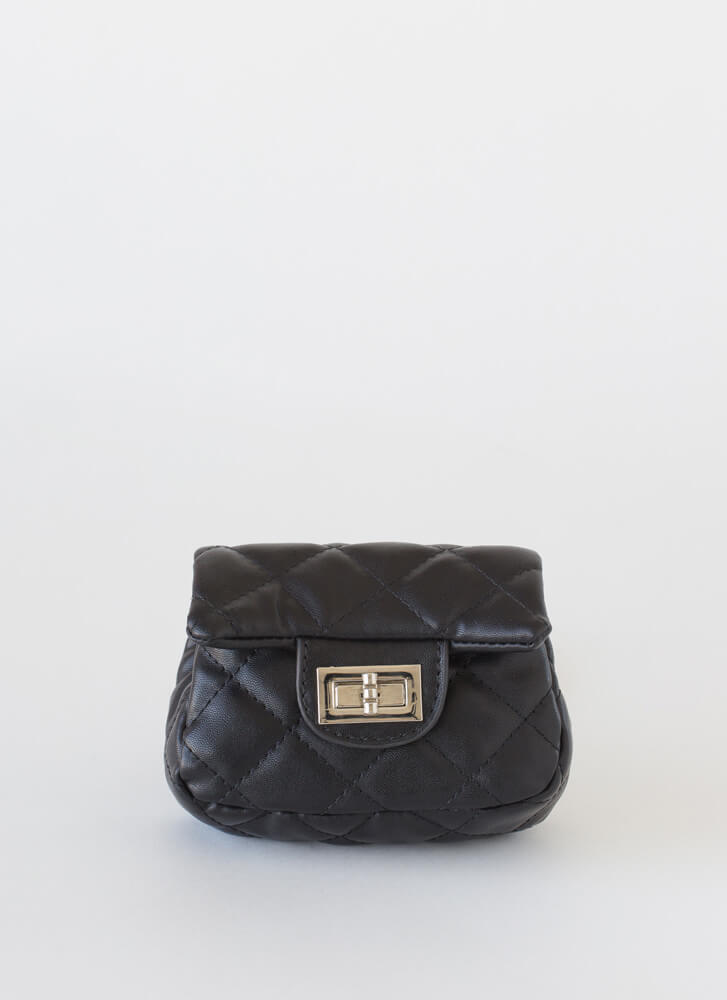 Little Cutie Quilted Mini Purse BLACK