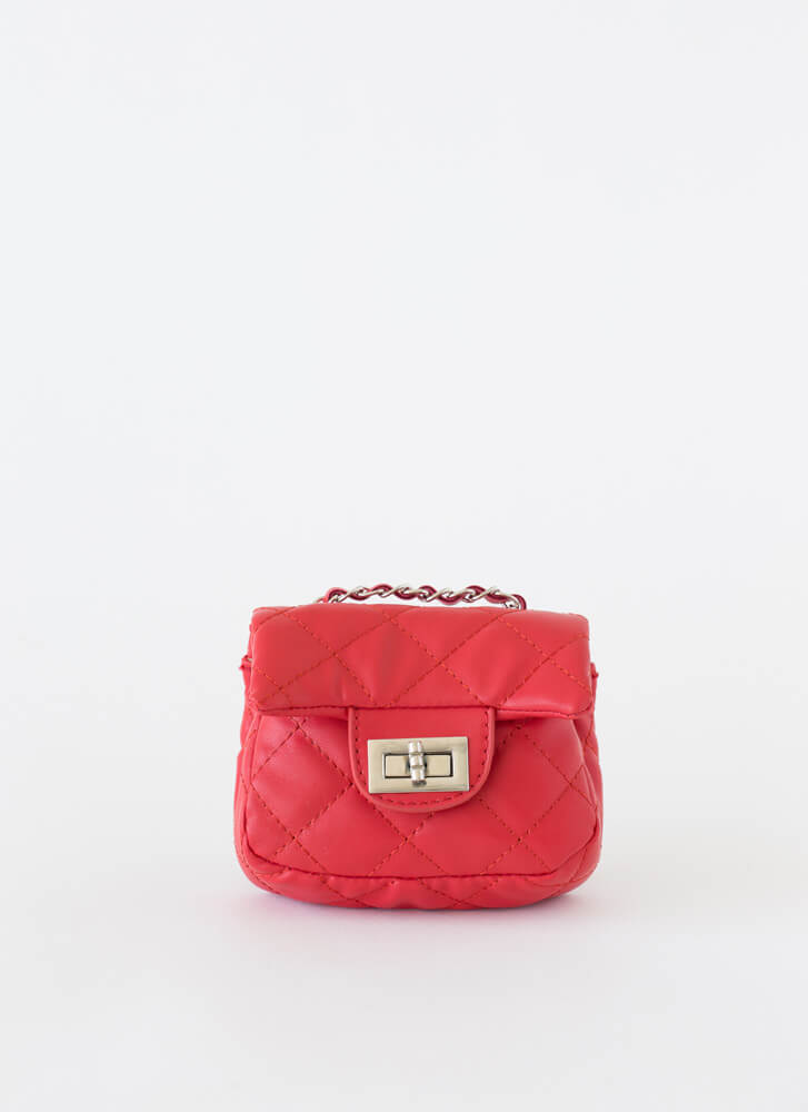 Little Cutie Quilted Mini Purse RED