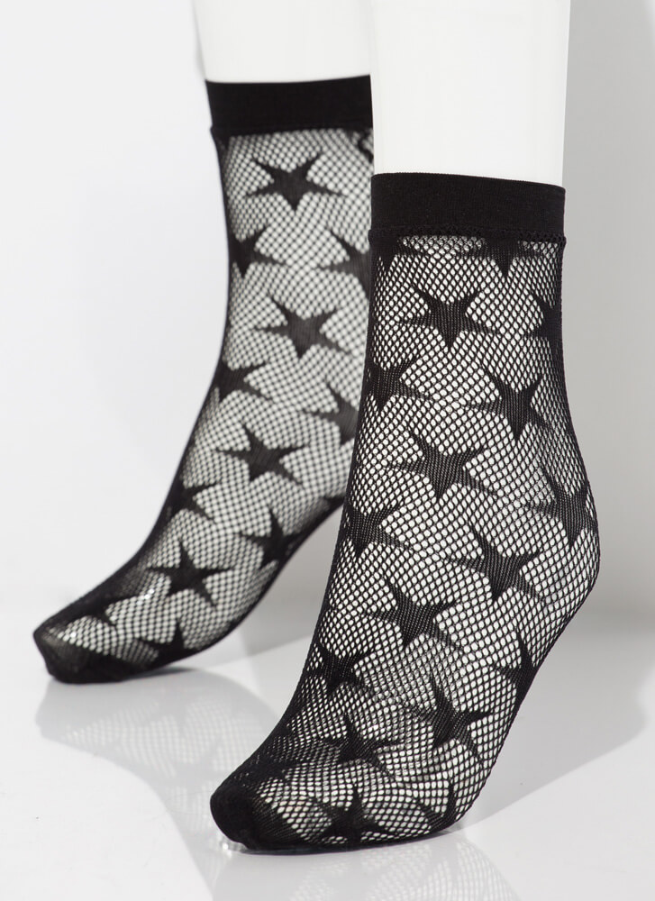 Star-Spangled Fishnet Stockings BLACK