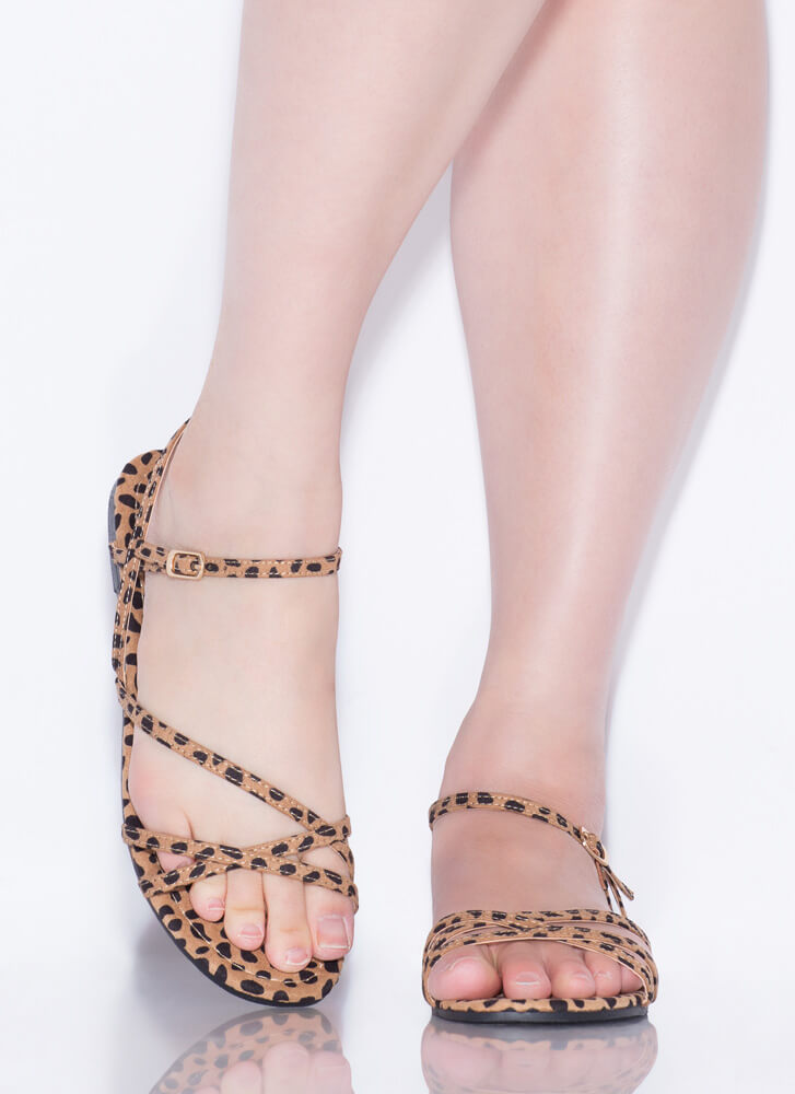 Strappy Summer Cheetah Print Sandals CHEETAH