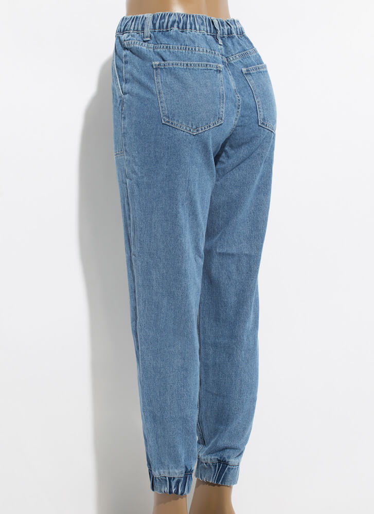 All The Cool Kids Wear Denim Joggers MEDBLUE