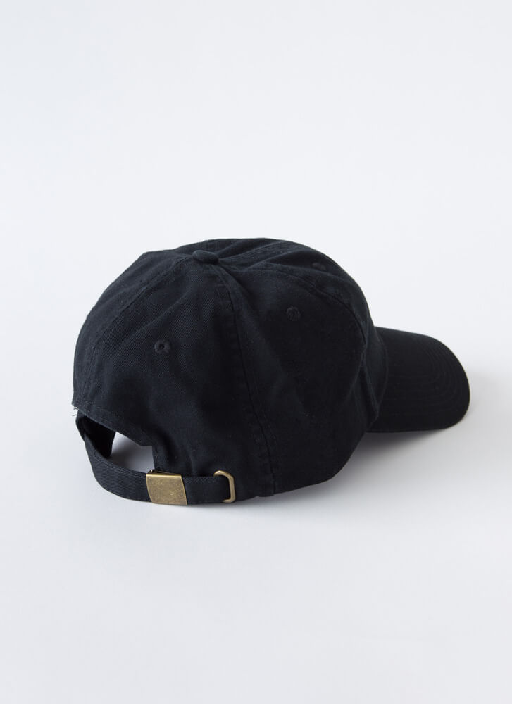 I Need You In My Life Cotton Cap BLACK