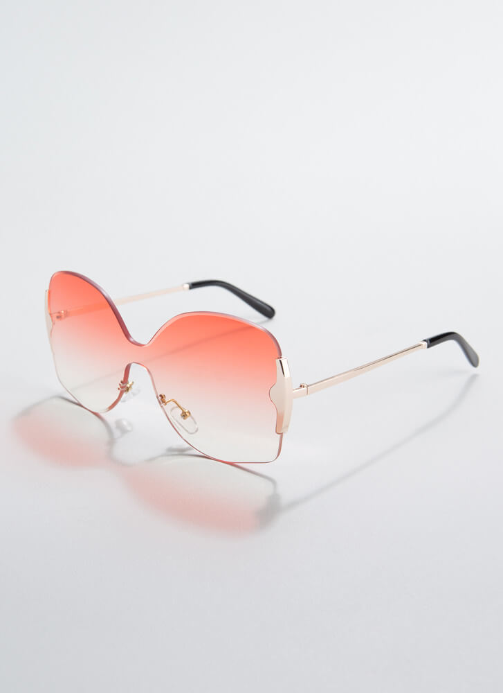 Free As A Butterfly Frameless Sunglasses PINK