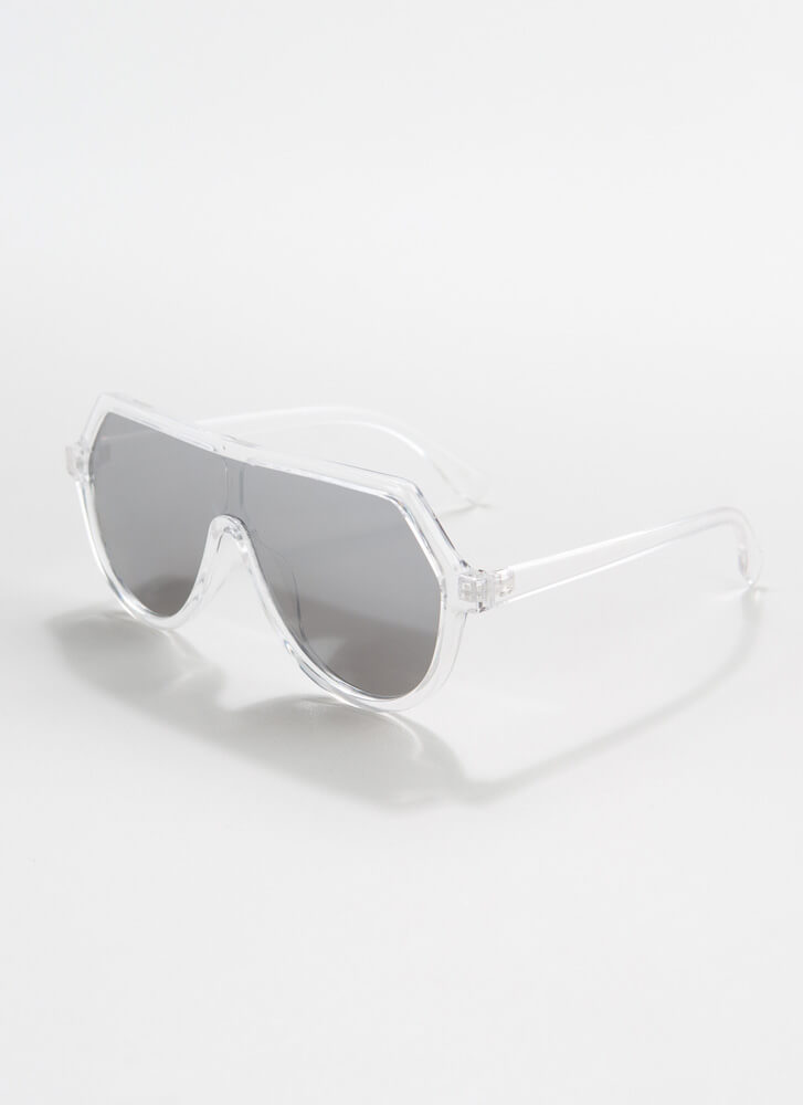Scuba Gear Round Goggle Sunglasses CLEAR