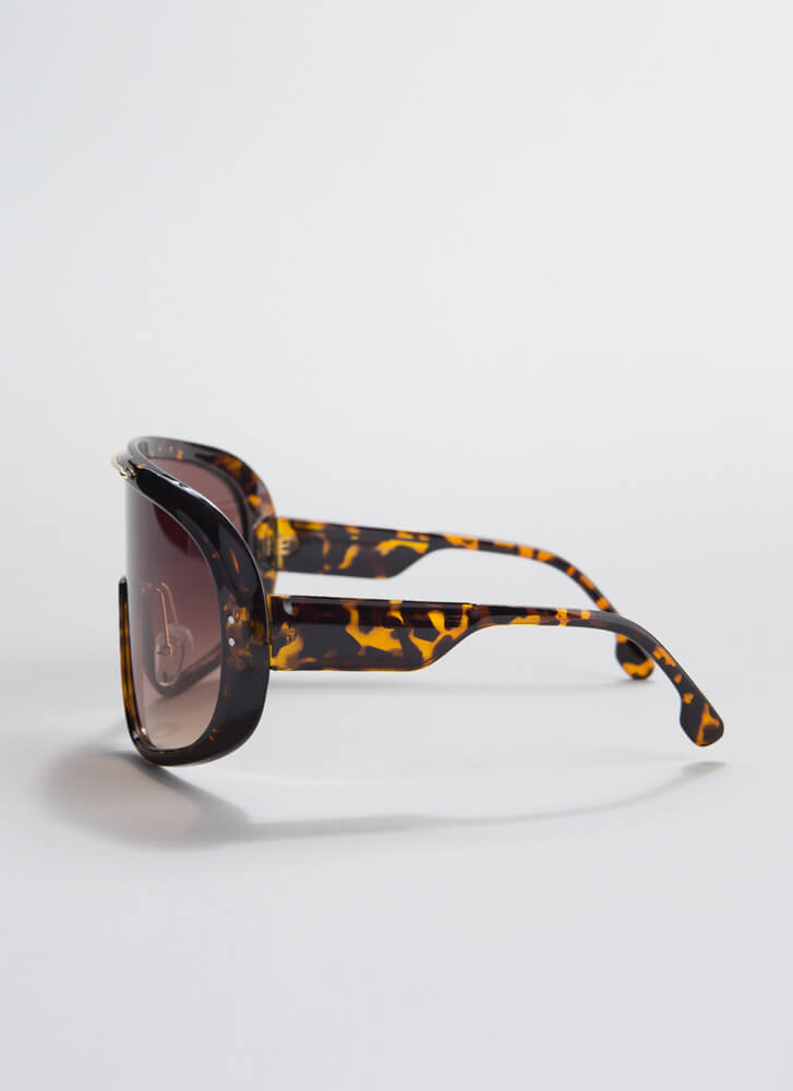 Epitome Of Cool Goggle Sunglasses BROWN