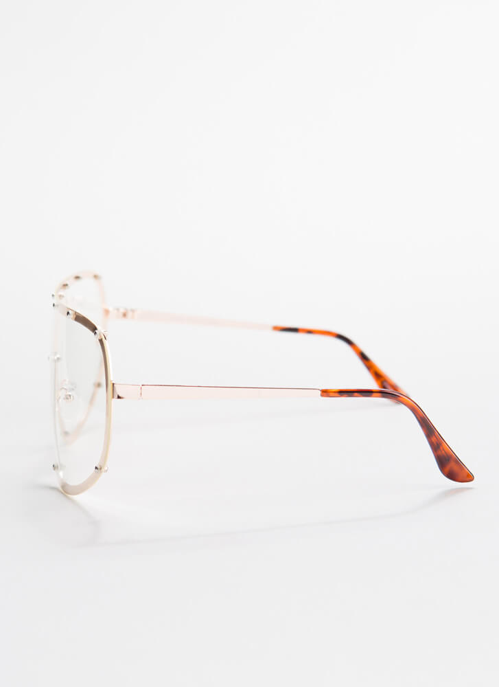 Goggle It Studded Reader Glasses GOLD