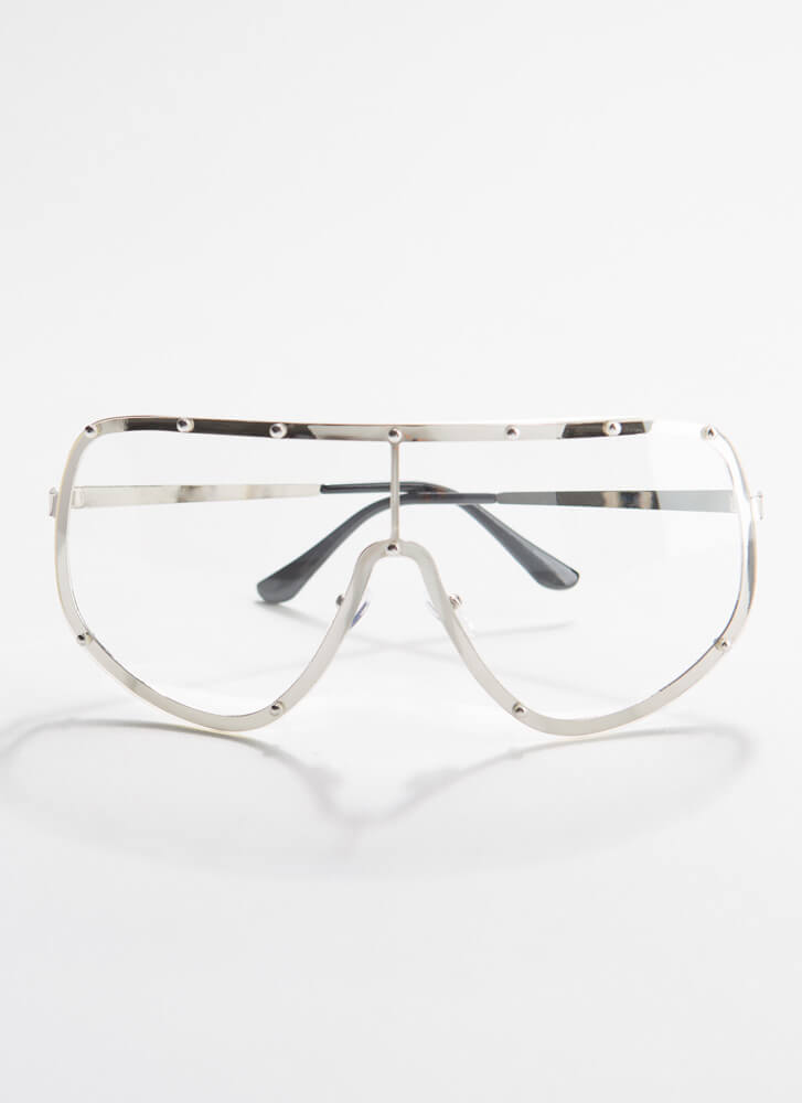 Goggle It Studded Reader Glasses SILVER