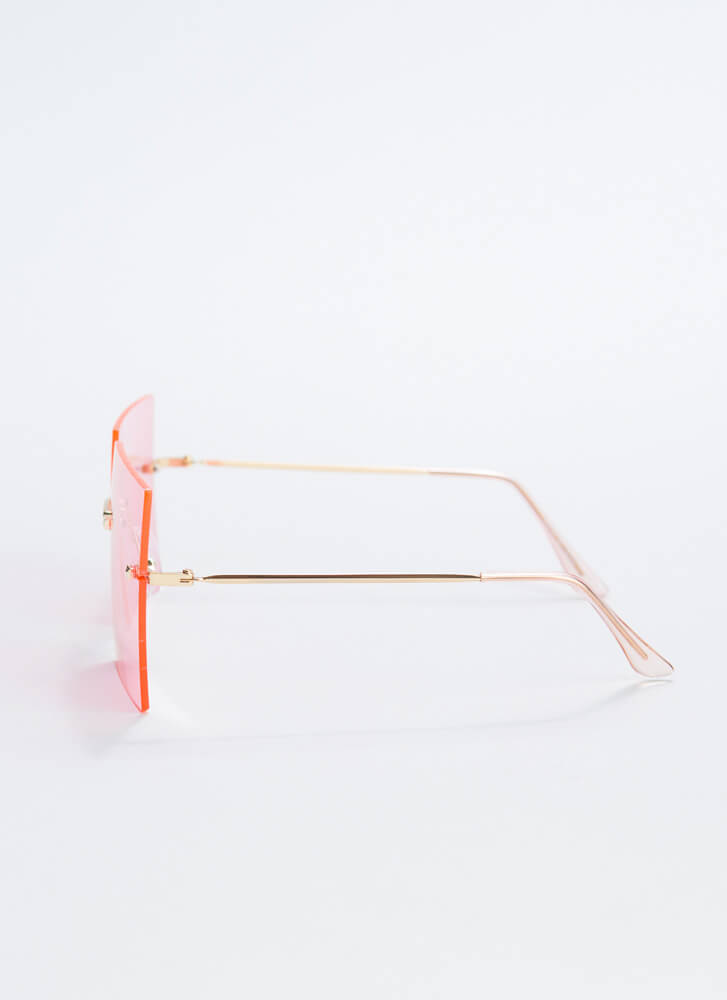 Hollywood Squares Oversized Sunglasses PINK