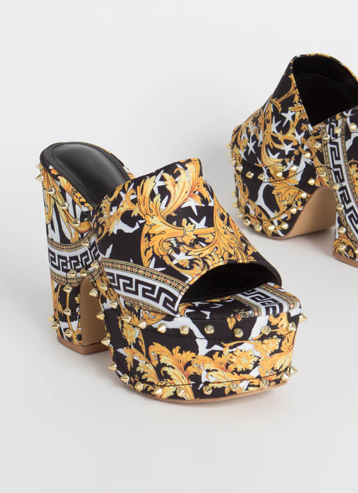 So Groovy Studded Super Chunky Platforms BAROQUE