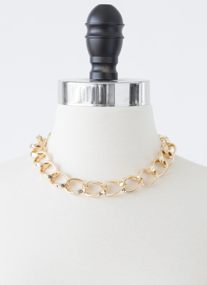 Linking Of You Chunky Chain Choker GOLD