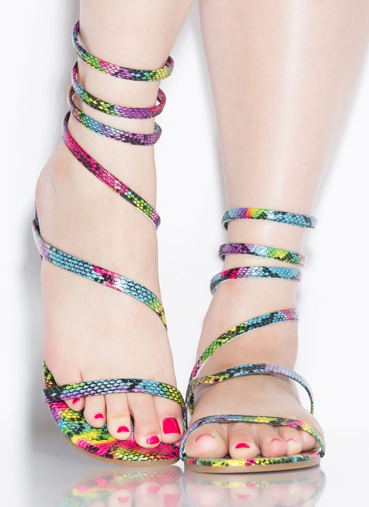 Coil And Trouble Strappy Sandals MULTI